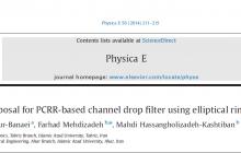 مقاله انگلیسی درباره فیلتر دراپ (چکه) کانال مبتنی بر PCRR با استفاده از رینگ های بیضی شکل